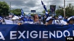 Les opposants ont demandé la libération de plus de 300 Nicaraguayens emprisonnés pour s'être opposés au gouvernement.