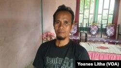 Yulius Molidja (42) petani sawah asal desa Toinasa, kecamatan Pamona Barat. Kabupaten Poso, Sulawesi Tengah, Senin (15/3/2021). Foto : Yoanes Litha