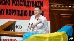 Надія Савченко у Верховній Раді. 31 травня, 2016.