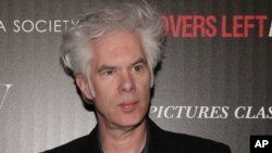 "Jim Jarmusch lors de la projection de ""Only Lovers Left Alive"", New-York, 12 mars 2014"