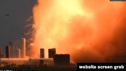Взрыв прототипа ракеты «Старшип»