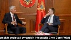 Potpredsjednik Vlade Crne Gore Igor Lukšić u razgovoru sa generalnim sekretarom Savjeta Evrope Torbjornom Jaglandom (Autor: Ministarstvo vanjskih poslova i evropskih integracija Crne Gore)