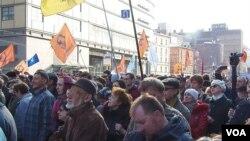 4月13日莫斯科捍衛言論自由集會(美國之音白樺拍攝)