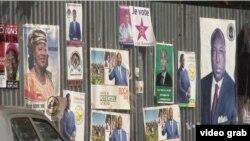在布基納法索總統候選人的競選海報。
