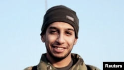 An undated photograph of a man described as Abdelhamid Abaaoud that was published in the Islamic State's online magazine Dabiq and posted on a social media website.