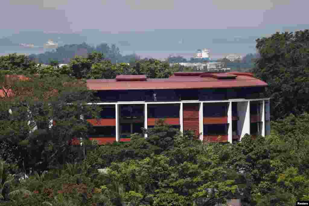 美國北韓峰會舉行地點 - 新加坡聖淘沙的嘉佩樂酒店(2018年6月4日)。嘉佩樂酒店坐落於新加坡海岸半公里以外的聖淘沙,該島嶼以其高端的海灘酒店,高爾夫球場和遊樂公園著稱。