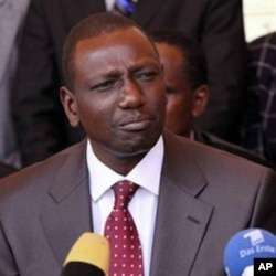 William Ruto, Kenya's suspended Higher Education Minister