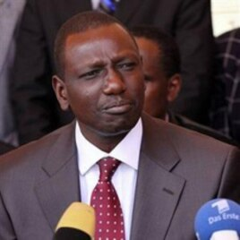 Kenya's suspended Higher Education Minister William Ruto is accused of graft (file photo)
