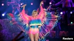 Taylor Swift ທີ່ສະແດງໃນງານຄອນເຊີຣ໌ຕ iHeartRadio Wango Tango ທີ່ເມືອງ Carson, California, 01 June 2019.