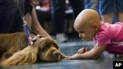 Ayden Denton, de Texarkana, fue tratada de un cáncer llamado neuroblastoma en el M.D. Anderson Cancer Center de la Universidad de Texas. El centro atiende a 112.000 pacientes por año.