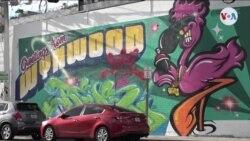 Un mural por el milagro de Venezuela en Miami (afiliadas)
