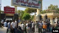 یکی از تجمع های اعتراضی کارگران شهرداری آبادان