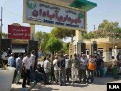 تجمع سه روزه کارگران شهرداری آبادان برای معوقات مزدی