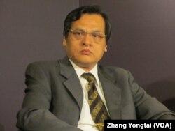 台湾前陆委会主委陈明通 (美国之音张永泰拍摄)