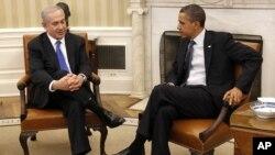 2012年3月5日﹐美國總統奧巴馬在白宮接見到訪的以色列總理內塔尼亞胡。