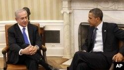 지난해 5월 미국 백악관에서 베냐민 네타냐후 이스라엘 총리(왼쪽)와 회담하는 바락 오바마 미국 대통령. (자료사진)