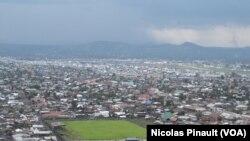Une vue aérienne de Goma