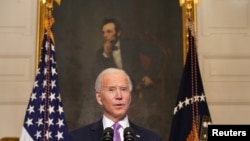 Le président américain Joe Biden à la Maison Blanche à Washington, États-Unis, le 26 janvier 2021.