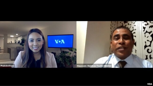 TOURISM MINISTER OF MALDIVES, ABDULLA MAUSOOM, IN AN INTERVIEW WITH VOA THAI (by Janine Phakdeetham)