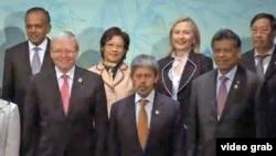 美国在东盟会议上力求在中国问题上宽慰各国
