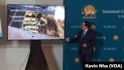علیرضا جعفرزاده در جلسه انتشار اسناد مربوط به پهپادهای سپاه پاسداران، روز چهارشنبه در واشنگتن