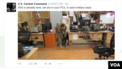 자칭 ISIL추종자라고 밝힌 해커들이 12일 '트위터'와 '유튜브' 계정을 해킹해 미군 장병들을 위협하는 문구를 남겼다.
