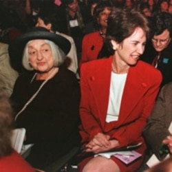 Betty Friedan and Lt. Gov. Kathleen Kennedy Townsend at the Feminist Expo 2000 in Baltimore, Maryland