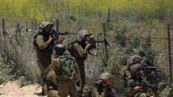 نظامیان اسراییل در حال هدف گیری، بلندی های جولان - ۵ مه ۲۰۱۱