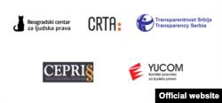 Kombinacija logoa organizacija civilnog društva (Skrinšot: CRTA)