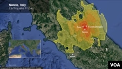 An earthquake Sunday rocked the central Italy town of Norcia, with tremors felt over a wide area.