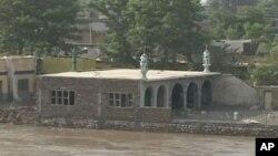 پاکستان میں سیلاب سے متاثرہ ایک علاقہ