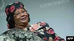 FILE - Former President of Malawi Joyce Banda attends the 2016 Concordia Summit in New York, Sept. 20, 2016.