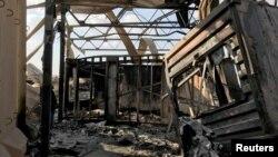 Baza Al Asad u Iraku poslije raketnog napada Irana