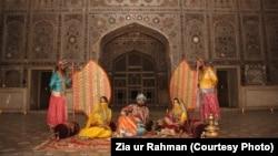 لاہور کے شاہی قلعے میں مغلیہ دور کی ایک جھلک