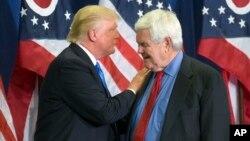 美国当选总统川普与前众议院议长金里奇