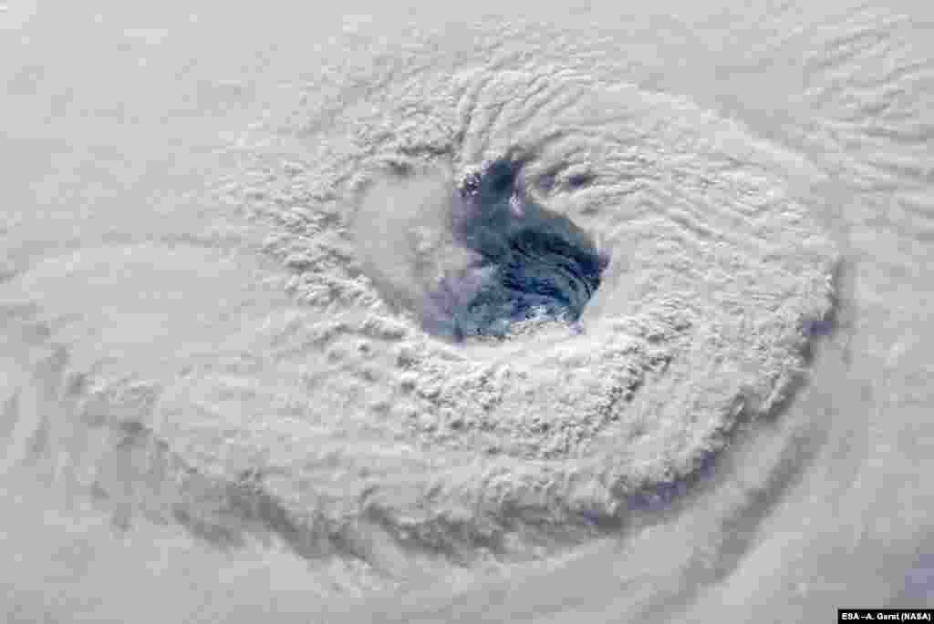 NASA sees Hurricane Florence open an evil-looking eye