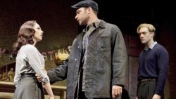 Scarlett Johansson, Liev Schreiber and Morgan Spector in the production currently playing on Broadway