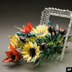 Ginny Ruffner is best known for her intricate glass flowers.