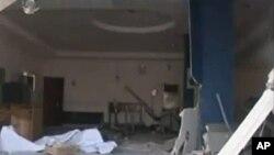 Scène de l'un des attentats du 4 novembre 2011 (Damatura, Nigéria)