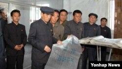 북한 박봉주 내각 총리가 남흥청년화학연합기업소를 찾아 비료 증산을 독려했다고 노동신문이 14일 전했다. (자료사진)