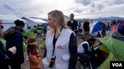 La porte-parole de MSF Gemma Gillie (J. Dettmer)