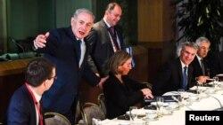 آقای نتانیاهو در سفر اروپایی با وزرای خارجه عضو اتحادیه اروپا دیدار کرد.