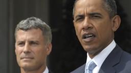 Ông Alan Krueger (trái) và Tổng thống Barack Obama.