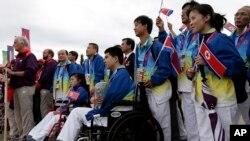 지난 2012년 런던 장애인올림픽에 출전한 북한 선수단. 영국은 당시 북한 선수단 출전 비용을 지원했다고 밝혔다.