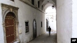 A recently restored street in Algiers' Casbah.