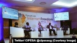 Une conférence de la Cipesa (Coalition pour les politiques internationales sur les technologies de la communication et de l'internet en Afrique australe et de l'Est) a Johannesburg, Afrique du Sud, 29 septembre 2017. (Twitter/ CIPESA @cipesaug)