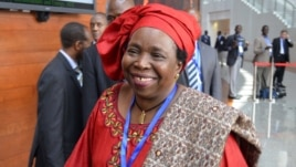 South African diplomat and doctor Nkosazana Dlamini-Zuma arrives at the leaders meeting at the African Union (AU) in Ethiopia's capital Addis Ababa, July 16, 2012.
