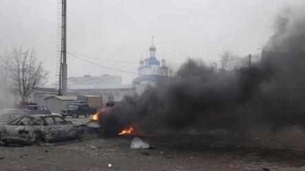 马利乌波尔的居民区遭反政府武装袭击(2015年1月24日)