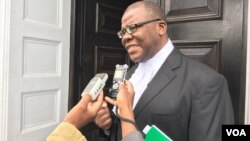 Tendai Biti seen after the Constitutional Court ruling in Harare. (Photo: Mavis Gama)