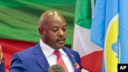 Pierre Nkurunziza, le president du Burundi